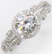 Cz Imitation Moissanite Simulant Sterling Sz 8 1 ct Plus Majestic Royal Ring Top