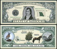Missouri State Quarter Novelty Bills - Lot of 2