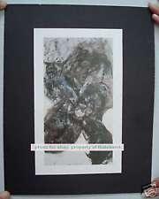 Martin Disler Serigraphy On Mount Paper 1986