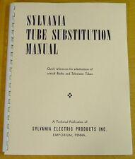 Sylvania Tube Substitution Manual new & remastered