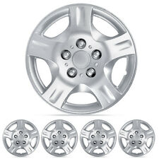 4 Piece Set 15 Inch Hubcaps Silver Skin OEM Steel Wheel Replacement Hub Caps