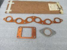 1933 34 35 36 37 38 Willys Engine Manifold Gasket Set Copper - NORS