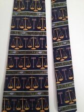 Mens Necktie Legal Lawyer Scales Justice Tie Attorney Liberty Defense Not Guilty