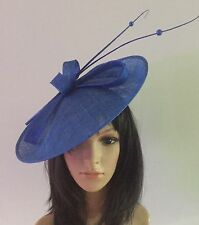 Cobalt Blue WEDDING CAPPELLO DISC FASCINATOR CON PIATTINO OCCASIONE madre della sposa
