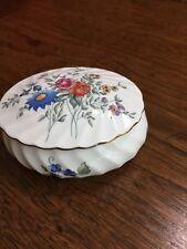 """Vintage Wedgwood """"Avebury"""" Bone China, Fluted, Oval, Trinket Box-Made In England"""