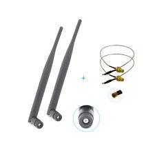 2x 6dBi RP-SMA 2.4GHz 5GHz Antennen + 2xU.fl Kabel für Linksys WRT610N WRT54GS2