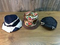 Antique Vintage Women's Ladies Dress Hat Hats Lot Of 3 J1