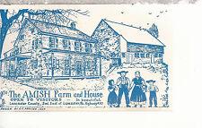The Amish Farm and House  Lancaster   PA   Chrome Postcard 1217