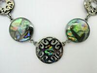 Lia Sophia NECKLACE and BRACELET Jewelry Set Shell Medallion Signed NEW NWT