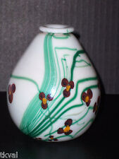 Bohemia ZELEZNY BROD SKIO GLASS  BUD VASE Forget-Me-Not CZECH Multi-color