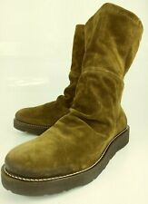 Bronx So Today 17000 Womens Boots Ankle EU 42 Brown Suede Wedge Casual 6111