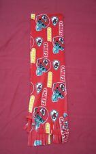 NFL FLEECE  SCARF KANSAS CITY CHIEFS APPROX 60 x 6 inches  UNISEX MULTI- COLOR