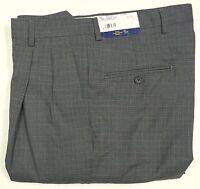 Neuf avec étiquettes $125 Hart Schaffner Marx laine Expander robe pantalon homme plis 32 34 Nouveau