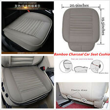 Gray PU Car Bamboo Charcoal Seat Cover Cushion Seat Full Surround Protector Pad