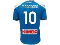 Maglia Maradona Napoli Home originale SSC Napoli Robe di Kappa ufficiale Pibe