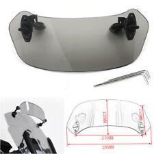 Universal Adjustable WindScreen Windshield Spoiler For BMW Honda Yamaha Smoke