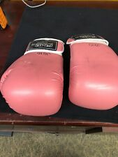 Triple Threat Quick Strap Fitness Training Boxing Gloves - Pink Adult 12oz