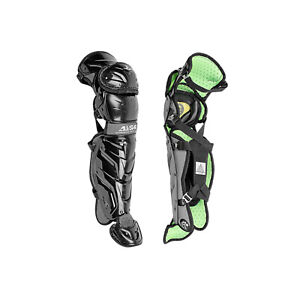 All-Star Sports S7 Axis Pro Baseball Leg Guards for Ages 12 to 16 Years, Black