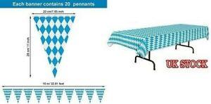 Oktoberfest Plastic Tablecloth Cover Bunting Reusable Bavarian PartyTableware