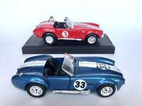 Lot of 2 Shelby Cobra 427 Revell Sunnyside 1:24 Scale Diecast Cars