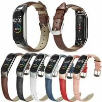 Crocodile Style Leather Strap For XiaoMi Mi Band 4 3 Smart Bracelet Bumper Cover