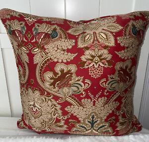 "VTG Ralph Lauren JARDINIERE Cotton Sateen 18"" Throw Pillow W/Feather Insert"