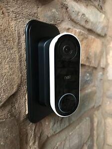 Nest Hello Doorbell Wall Plate   45° degree Angle Mount Kit Left/Right -Black!