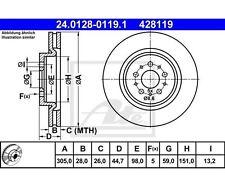 2 St. UAT Disque de frein pour Alfa Romeo Spider GTV 147 156 Sport Wagon 156