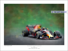 Max Verstappenn Redbull 2018 Formula One F1 Car Print Painting Picture