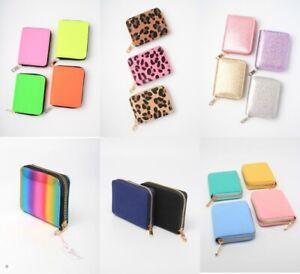 Zip Purse Wallet, Fabric Neon Glitter Girls, Ladies, Stocking Filler, Loot, Lot