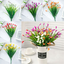 Plastic Artificial Flowers Fake Plants Grass Garden Lily Calla Daffodil Outdoor-