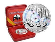 10 yuans plata china panda 2011 holographics Edition en Box + coa
