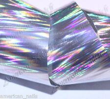 ROULEAU Foils Nail Art Foil ongle zigzag Argent 2,5 x 150 cm