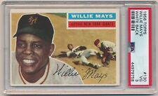 WILLIE MAYS 1956 Topps Baseball #130 White Back PSA 3 VG NEW YORK GIANTS HOF