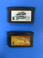Shrek Smash n Crash Racing & Shrek 2 Gameboy Advance GBA Cartridges Only Tested