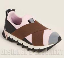 DOLCE & GABBANA pink Colorblock 38.5 IBIZA Neoprene logo Sneakers NIB Auth $795!