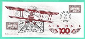 #5282 Centennial Air Mail Red FDC-August 11, 2018-USPS #10 cover, BELOW COST!