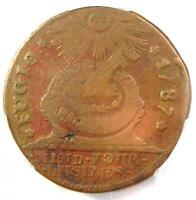 1787 Fugio Cent 1C Colonial Coin - Certified PCGS F15 - Rare Coin!