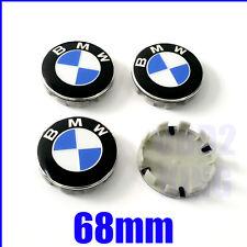 4 PCS FITS BMW 68mm Wheel Center Cover Emblem Sign Logo Hub Cap Set