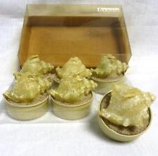 Formano Satz 6 Teelicht Kerze Muschel beige Tier Dekoration Teelichter Geschenk
