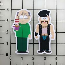 "South Park Mr. Garrison and Mr. Slave 4"" Tall Vinyl Decal Sticker Set"