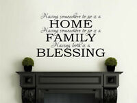 Having Somewhere To Go... Wall Art Quote, Wall Sticker, Decal, Homely Decor, PVC