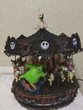 Mr. Christmas Black Halloween Carousel CUSTOM NIGHTMARE BEFORE CHRISTMAS WORKS!
