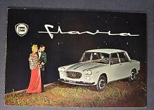 1962-1963 Lancia Flavia Catalog Sales Brochure Excellent Original