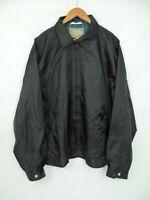 HAGGAR CLOTHING CO Windbreaker Nylon Black Full Zip Men's size XL