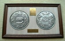 More details for the waterloo medal – framed electrotype of the pistrucci silver medal.