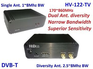 HV-122-TV Full HD 2-Way Diversity Digital TV Receiver TV band