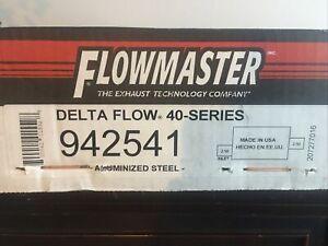 Flowmaster 942541 40 Series Delta Flow Muffler - Center Outlet, Offset Inlet 2.5
