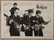 Beatles 1982 Heavy Stock Poster Silver Screen Facing Right New Condition