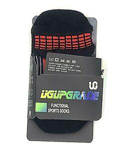 UGUpgrade Socks Mens Medium US 7-9 Red Black Functional Compression Sports Pair